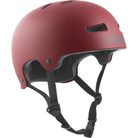 TSG Evolution Solid Color Cykelhjelm, satin oxblood